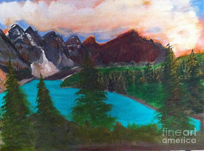 Painting - Canadian Rocky Mountain Lake by Rod Jellison