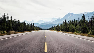Photograph - Canadian Rocky Road by Heather Applegate