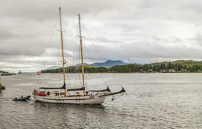 Photograph - Canadian Sailing Schooner by Timothy Latta