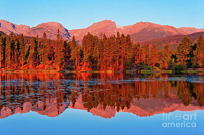 Photograph - Canadian Sunset With Red Reflections by Rod Jellison