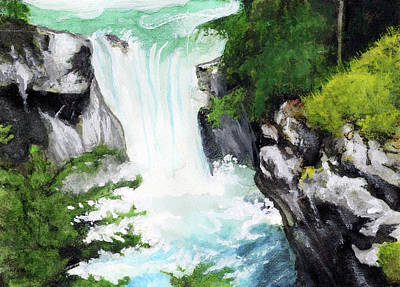 Mixed Media - Canadian Waterfall Series Vii by Gary Donald Sanchez