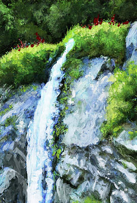 Mixed Media - Canadian Waterfall Series Xii by Gary Donald Sanchez