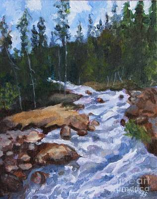 Painting - Canadian Waters by Jan Bennicoff