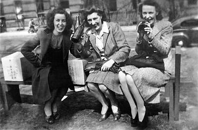 Ww2 Photograph - Canadian Women Celebrating During The Halifax Riots by Charles Meagher