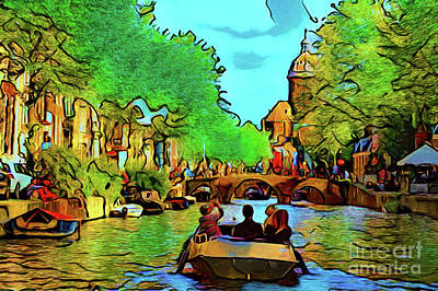 Photograph - Canal 16918 by Ray Shrewsberry