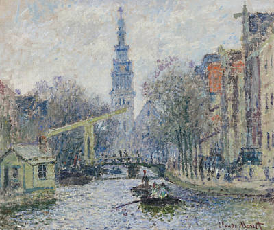 Amsterdam Painting - Canal Amsterdam by Claude Monet