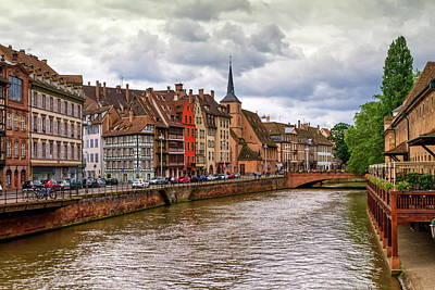 Photograph - Canal And Saint-nicolas Dock In Strasbourg, France by Elenarts - Elena Duvernay photo
