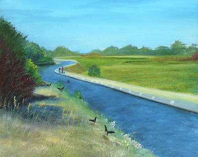 Mixed Media - Canal by Angela Stout