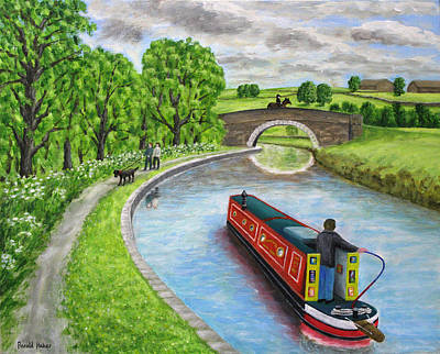 Canals Painting - Canal At Riley Green by Ronald Haber