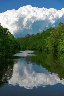 Photograph - Canal At Scudders Mill by Steven Richman