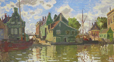 Painting - Canal At Zaandam Monet 1871 by Claude Monet