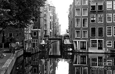 Photograph - Canal Between The Buildings 2014 by John Rizzuto
