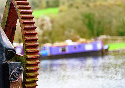 Photograph - Canal Boat And Crane by Colin Rayner