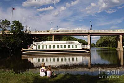 Photograph - Canal Boat  by Paula Guttilla