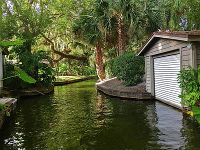 Photograph - Canal Boathouse by Denise Mazzocco