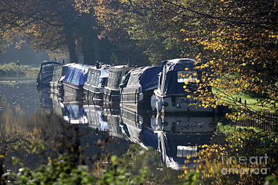 Photograph - Canal Boats Wey Canal Surrey by Julia Gavin