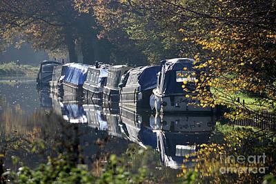 Photograph - Canal Boats Wey Canal Surrey by Julia Gavin