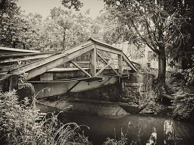 Washingtons Crossing Photograph - Canal Bridge At Washingtons Crossing by Bill Cannon