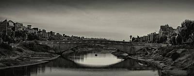 Photograph - Canal Bridge B W by Joseph Hollingsworth