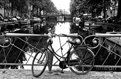 Photograph - Canal Bridge Bike 2014 by John Rizzuto