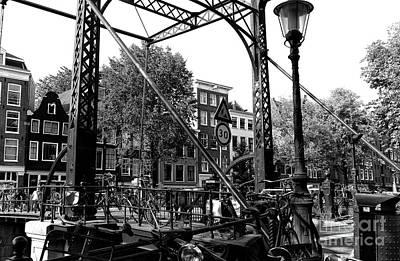 Photograph - Canal Bridge Chaos Mono by John Rizzuto