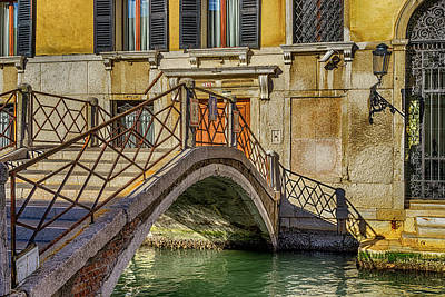 Photograph - Canal Bridge Venice_dsc1594_03012017 by Greg Kluempers