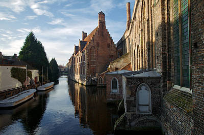 Photograph - Canal By Church by Lawrence Boothby