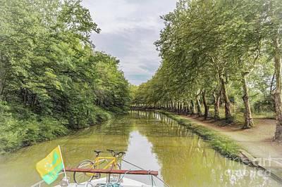 Digital Art - Canal Cruising by Howard Ferrier