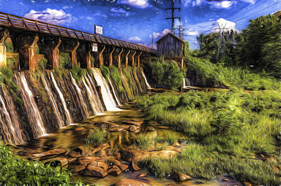 Photograph - Canal Dam by Harry B Brown