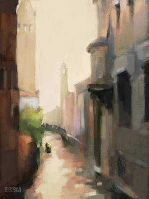 Venice Wall Art - Painting - Canal Dorsoduro Venice by Beverly Brown
