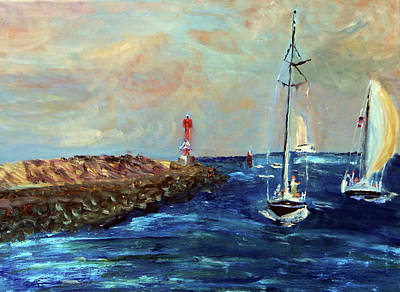 Painting - Canal Entrance by Michael Helfen