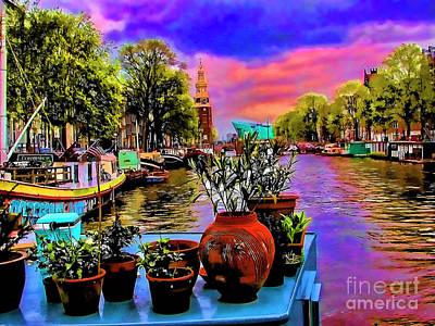 Photograph - Canal Garden by Rick Bragan