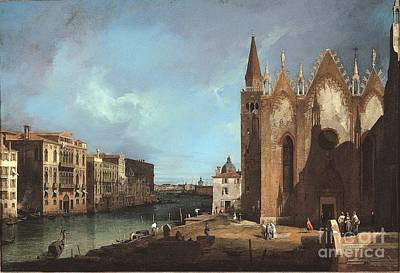People Painting - Canal Grande Da Santa Maria by Celestial Images