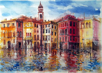 Grande Painting - Canal Grande Venice by Lorand Sipos