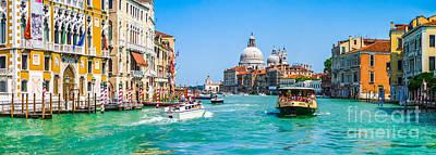 Photograph - Canal Grande With Basilica Di Santa Maria Della Salute, Venice, Italy by JR Photography
