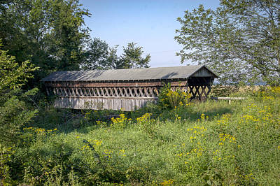 Photograph - Canal Greenway Covered Bridge  by Jack R Perry