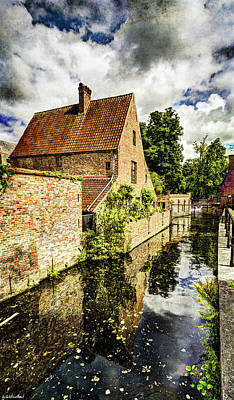 Photograph - Canal House In Bruges - Vintage by Weston Westmoreland