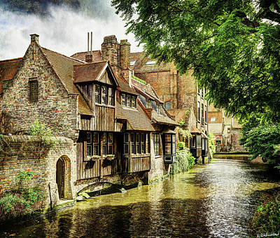 Photograph - Canal House In Bruges by Weston Westmoreland