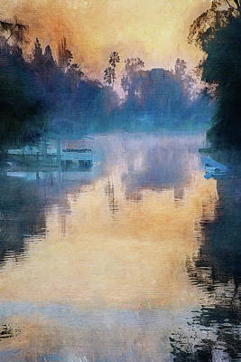 Impressionist Mixed Media - Canal Impressions by Terry Davis