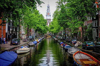 Photograph - Canal In Amsterdam by Menachem Ganon