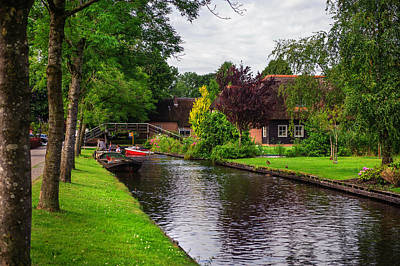 Photograph - Canal In Giethoorn With Boats by Jenny Rainbow