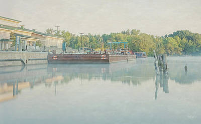 Art Print featuring the photograph Canal In Pastels by Everet Regal