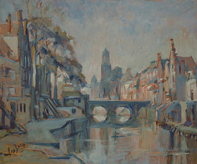 Autumn Painting - Canal In Utrecht by Nop Briex