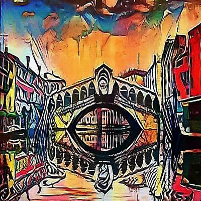 Canal In Venice, Italy - My Www Vikinek-art.com Art Print
