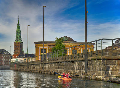 Photograph - Canal Kayaking In Copenhagen by Mick Burkey