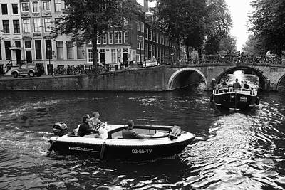 Photograph - Canal Life Amsterdam by August Timmermans