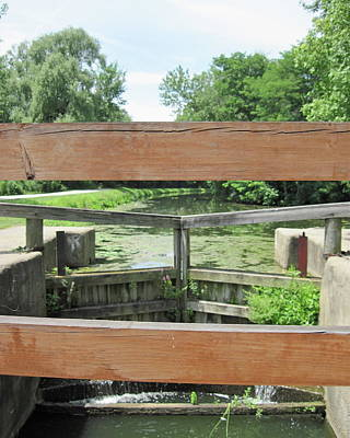 Take A View Photograph - Canal Lock With A View by Diane Stresing