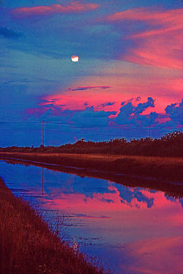 Photograph - Canal Moon by Bob Whitt