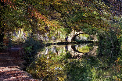 Photograph - Canal Path In Autumn by Shirley Mitchell