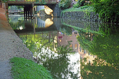 Photograph - Canal Reflections In Georgetown by Cora Wandel